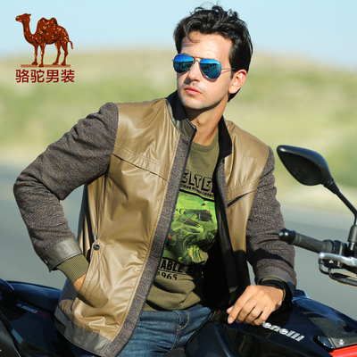 Camel Camel men's 2014 new winter casual jacket men's stand-up collar business casual Jacket
