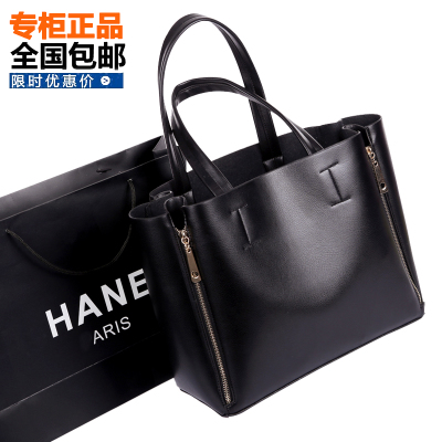 2014 new winter influx of European and American retro minimalist shoulder bag lady hand bag big bag of wild black handbag