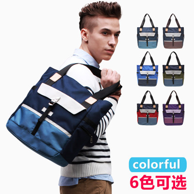 New JR hold my hand men tote bag shoulder bag female Korean tidal casual satchel bag PORT 7020