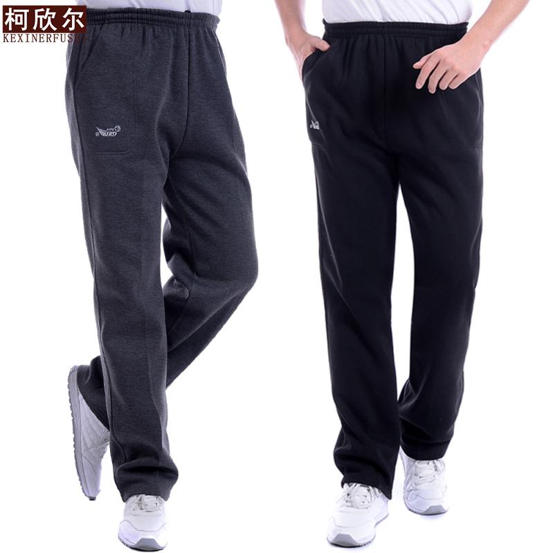 中年加厚宽松休闲长裤秋冬中老年人男士高腰加肥加大码运动裤特价