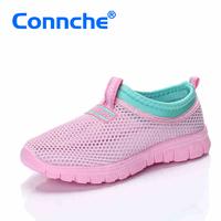 connche男童鞋女童凉鞋2015新款夏季网面儿童运动鞋子透气网鞋