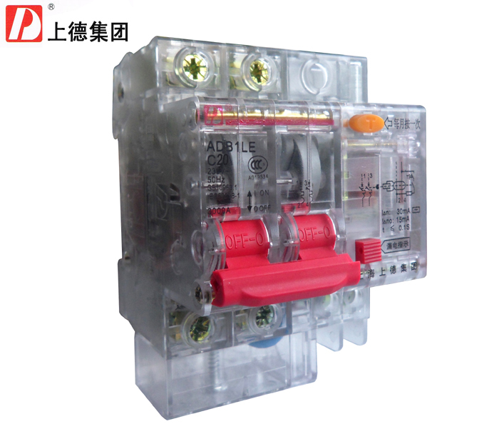 The group (ADB 1 LE ) DZ LE 47 - 2 20 P A Home leakage Switch\/Circuit Breaker\/protector transparent