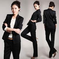 气质职业装女装套装套裤韩版修身OL长袖西装工作服两件套2016春季