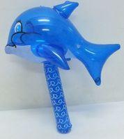 儿童充气玩具锤子 海豚棒中鱼棒 小海豚带铃铛的充气锤可定做