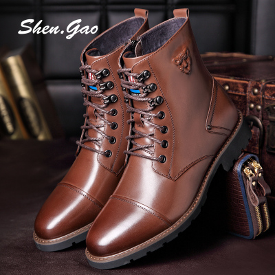 Holy men really high boots Martin boots male boots male British men's boots tooling boots male boots desert boots men's shoes