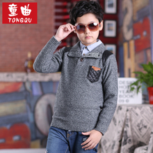 More boys sweater set in the first nine male big sweater knit 11 qiu dong children's sweaters 12 to 15 years old boy