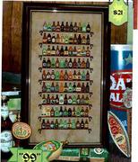 凉风十字绣 QT2399 杂志 99个啤酒瓶亚麻客厅小幅印花