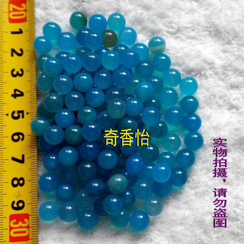 Изображения Будды, Статуи божества Семь Будды драгоценность * круглый голубой агат