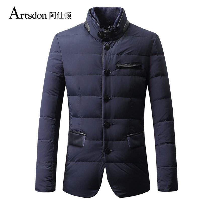 Artsdon/阿仕顿冬季男士时尚休闲羽绒服 立领短款羽绒服外套