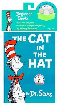 英文原版 The Cat in the Hat 戴帽子的猫 Dr. Seuss 绘本 书+CD