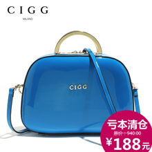 CIGG west song authentic leather handbag 2014 new patent leather cowhide candy color inclined shoulder bag with the bag in mail