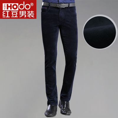 Men's thick red beans Slim stretch corduroy trousers men's casual pants trousers male wild multicolor 5339
