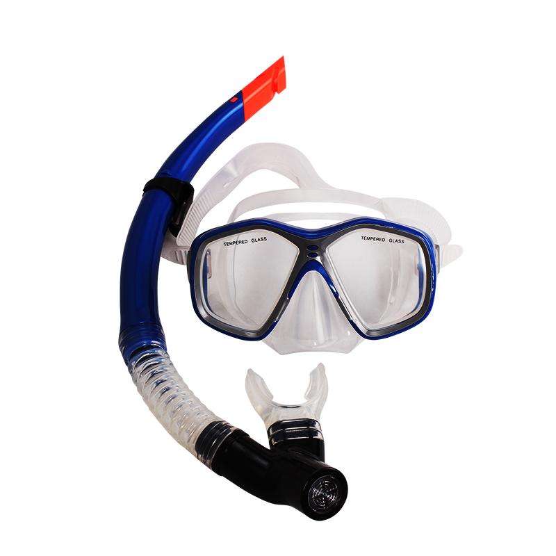 浮潜装备_polisi浮潜装备潜水镜游泳镜 全干式呼吸管套装防雾游泳面罩必备