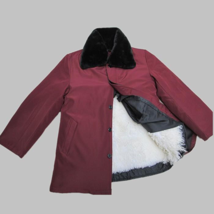 羊皮袄女袄皮毛一体身袖全皮活面内胆加厚中老年羽绒外套皮衣皮草