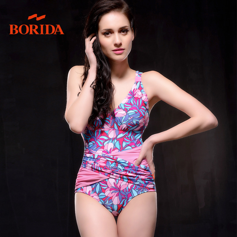 The day students conservative swimsuit female Korean small chest pinching graphics thin-3 corner mask poverty 2014 new
