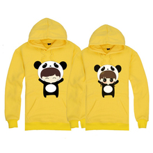 New winter upright flocking couples with pure cotton fleece sets men and women type hooded kangaroo pocket fleece single foreign trade