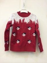 Xin home mom house G big boy upset double sweater Male baby Christmas snowman Christmas clothing
