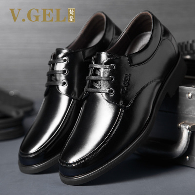 Autumn and winter men's business casual shoes increased stealth elevator shoes men and men's leather lace inside groom wedding shoes