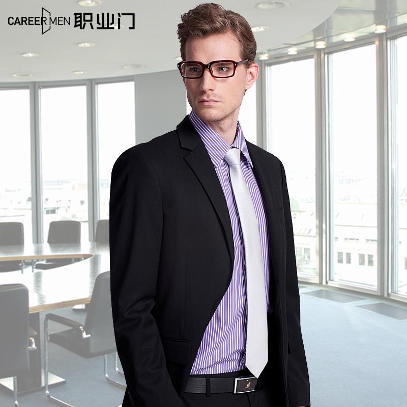 职业门男士西服外套商务韩版修身结婚礼服伴郎西服免烫西装上衣