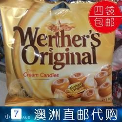 澳洲代购Werther's Original经典原味太妃糖 硬糖 140g 4袋包邮