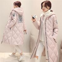 冬装新款韩版学生中长款连帽棉衣女修身显瘦棉服加厚大码棉袄外套