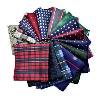 英伦丝巾结婚男士西装口袋巾花纹手帕 正装胸巾 西服装饰方巾商务