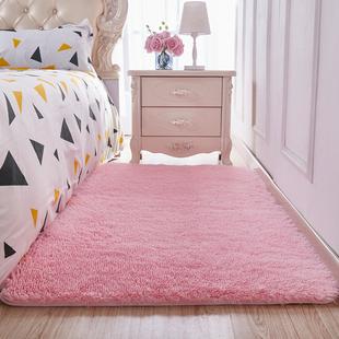 绒毛地毯客厅卧室房间女生粉色公主少女可定制长方形满铺可爱地垫