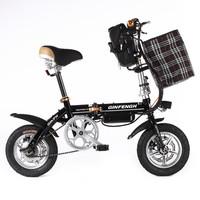 12寸折叠式36V48V锂电池迷你型代驾成人双折电动自行车