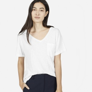 代购 everlane The Cotton V TEE 比马棉TEE V领