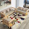 实木沙发组合客厅家具简约三人转角贵妃可拆洗布艺松木沙发小户型