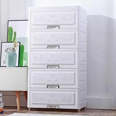 收纳柜子抽屉式多功能储物柜塑料自由组合儿童衣物整理箱子五斗柜
