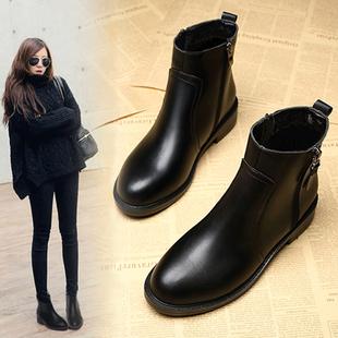 靴子女短靴2018秋冬网红马丁靴雪地41平底43大码女靴瘦瘦女鞋