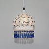 波西米亚灯具地中海风格白色蓝水晶单头小吊灯卧室餐厅灯创意个性