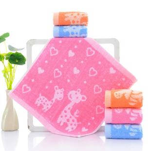 儿童洗脸纯棉小方巾 小毛巾纯棉方巾洗脸四方正方形 宝宝家用可批