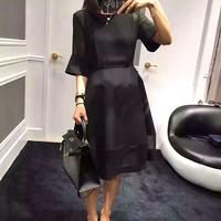 小黑裙 宫廷风连衣裙