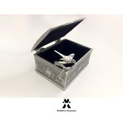 哥特式 欧美复古玫瑰花图腾首饰盒 耳钉盒 戒指盒