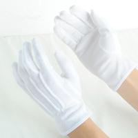 白色纯棉颗粒胶点防滑驾驶作业棉毛点塑手套礼仪司机劳保文玩手套