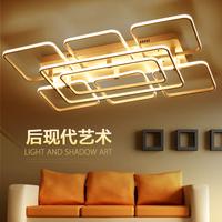 客厅灯简约现代长方形大气个性创意北欧后现代led吸顶灯客厅灯具