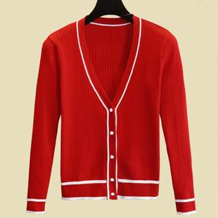 春秋针织衫开衫女短款薄空调衫毛衣宽松夏季上衣外套大码外搭