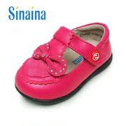 斯乃纳女童羊皮鞋宝宝真皮软底学步丁字鞋演出鞋SP