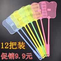 12把装塑料苍蝇拍 家居家用用品不充电 塑料手柄蝇拍打苍蝇拍子