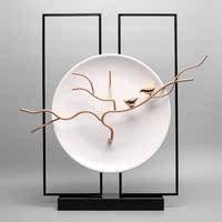 景德镇陶瓷家居装饰挂盘 坐盘 现代客厅盘子摆件中式软装饰品创意