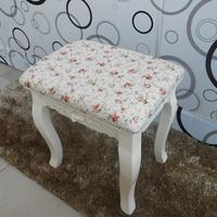 卧室小凳子梳妆凳实木坐凳 韩式  田园椅子化妆凳 软包坐凳现化