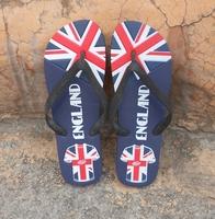 特大码男款46码47码48码人字拖 沙滩凉拖鞋夏季英国国旗图案清爽