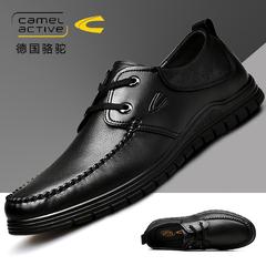 德国骆驼动感男鞋秋季男士商务鞋真皮皮鞋英伦系带软底潮鞋男