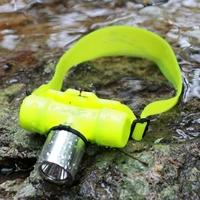 优豹T6潜水充电头灯超强光水下防水远射白光黄光Q5/L2 18650/AAA