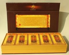 云南普洱茶 干仓 2006年原料压制龙园号 勐海印象 金芽小方砖