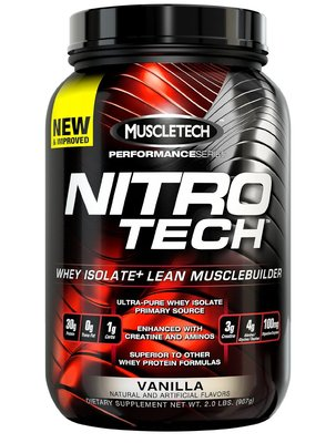 NitroTech- Whey Isolate Protein Powder 2LB肌肉科技蛋白粉2磅