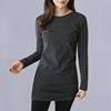 女式长袖显瘦百搭T恤女士秋冬季装中长款包臀打底衫