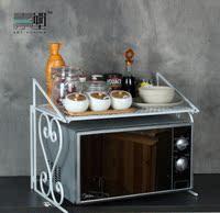 青原塑 现代简约铁艺厨房置物架 微波炉层架 桌面收纳架烤箱架